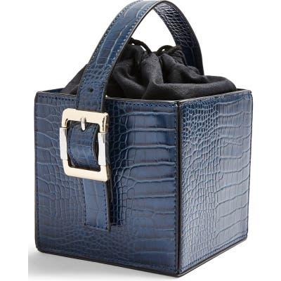 Topshop Gracie Box Shoulder Bag - Blue