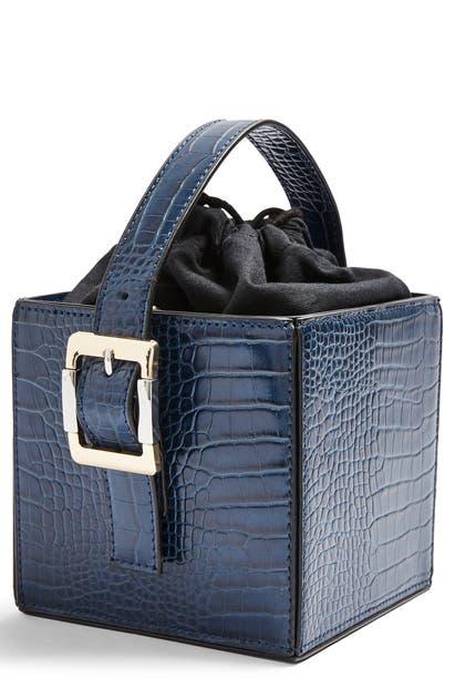 Topshop Gracie Box Shoulder Bag In Blue
