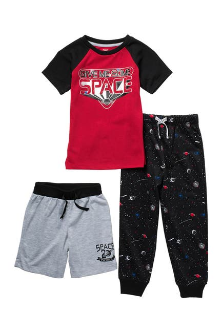 Image of Dream Life Space Print 3-Piece Pajama Set