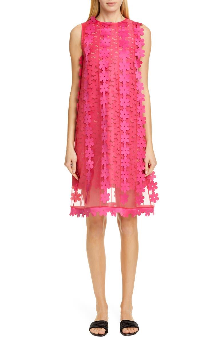 Paskal Floral Appliqu Double Layer Shift Dress