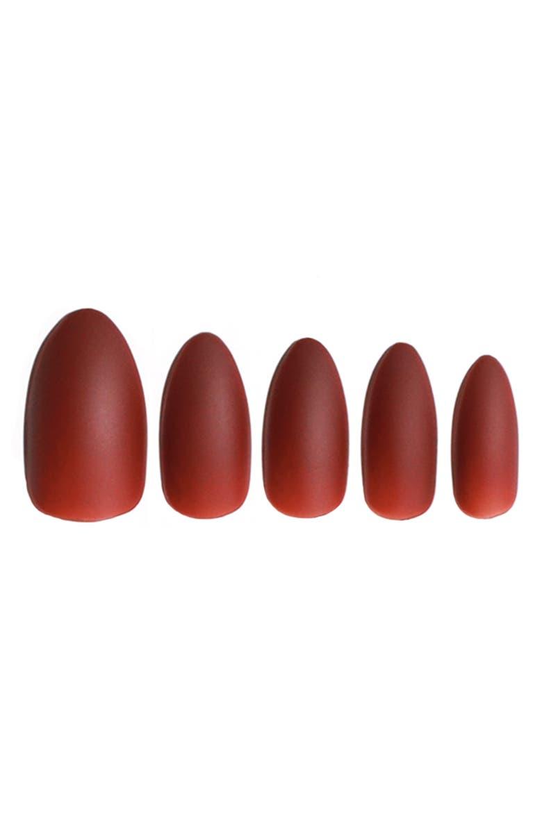 STATIC NAILS Thorns Rose Matte Pop-On Reusable Manicure Set, Main, color, 100