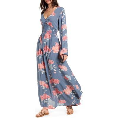 Rip Curl Moon Bay Long Sleeve Maxi Dress, Blue