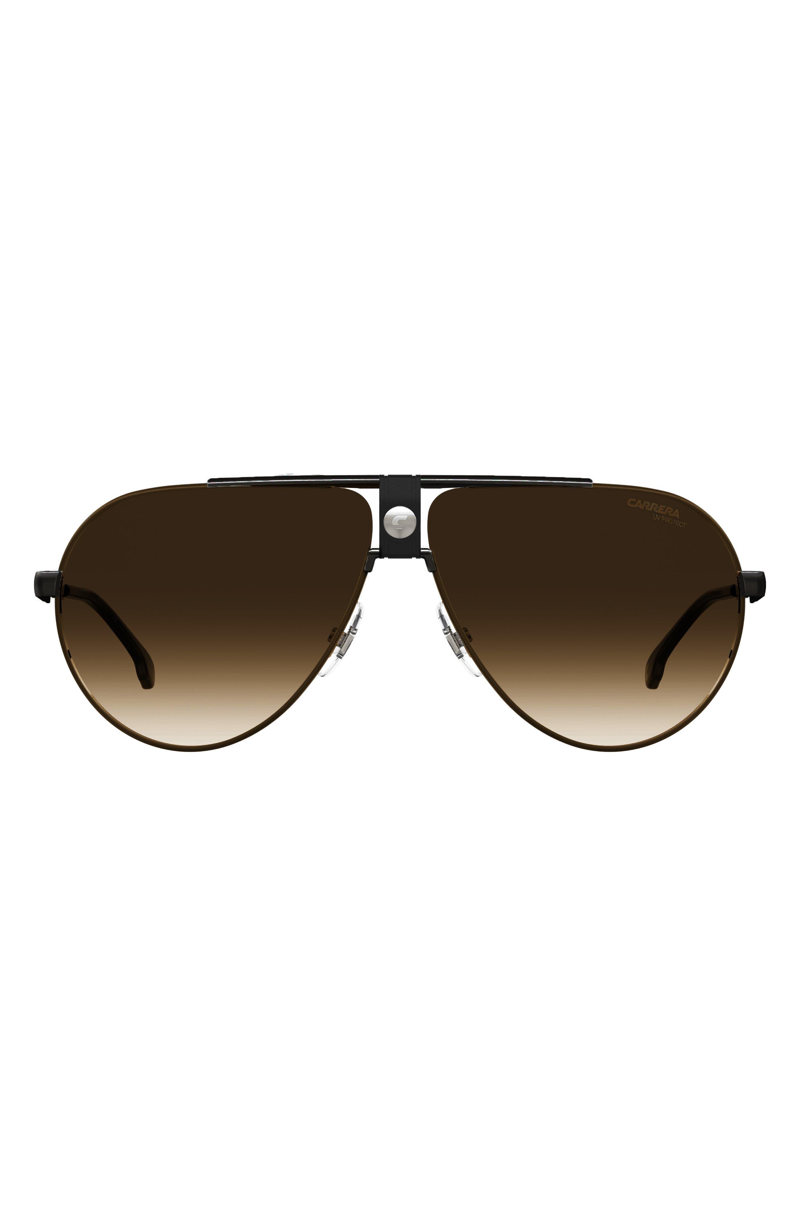 63mm Polarized Gradient Oversize Aviator Sunglasses