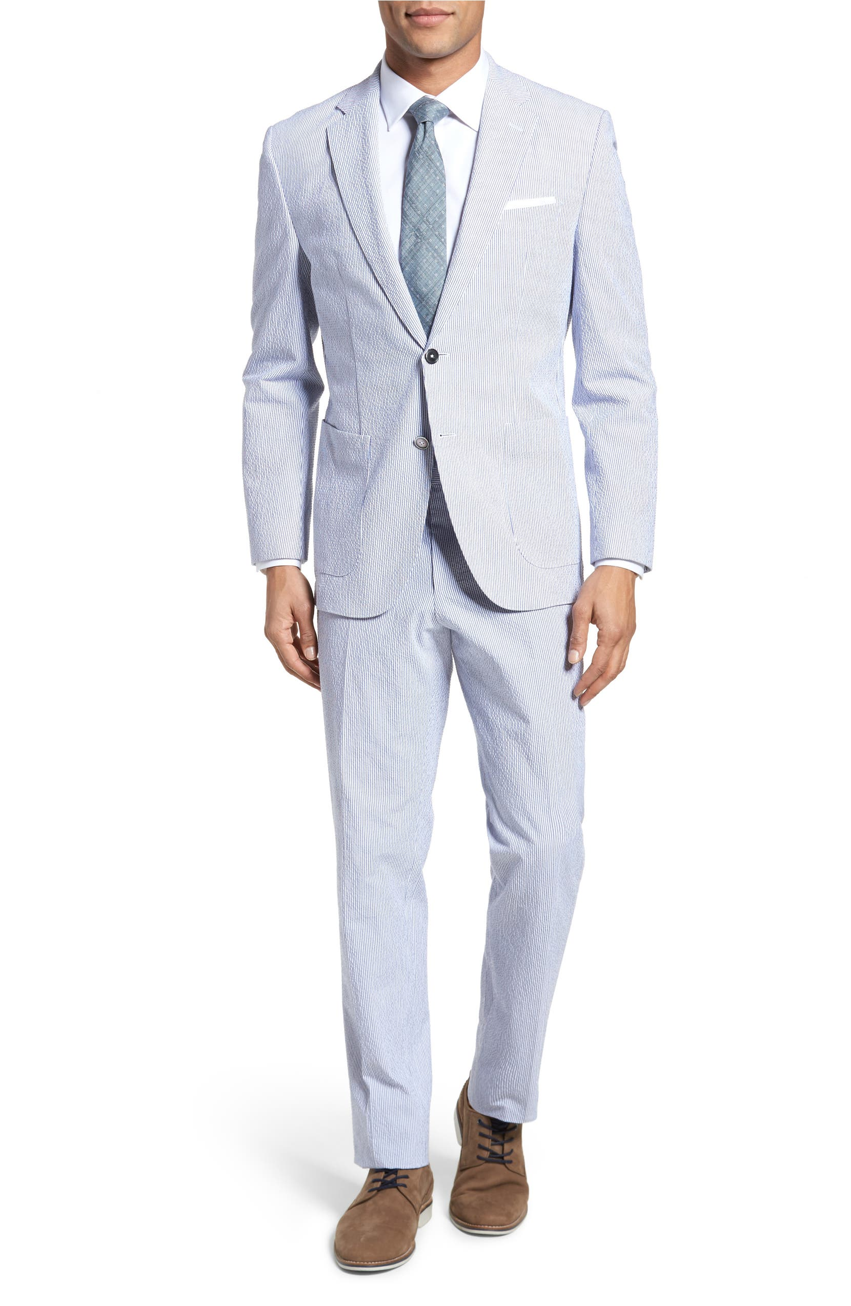 9a73f8cdd13 BOSS Janon/Lenon Classic Fit Stretch Cotton Seersucker Suit | Nordstrom