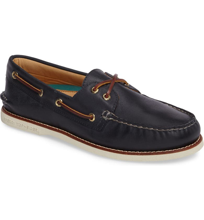 SPERRY 'Gold Cup - Authentic Original' Boat Shoe, Main, color, NAVY LEATHER