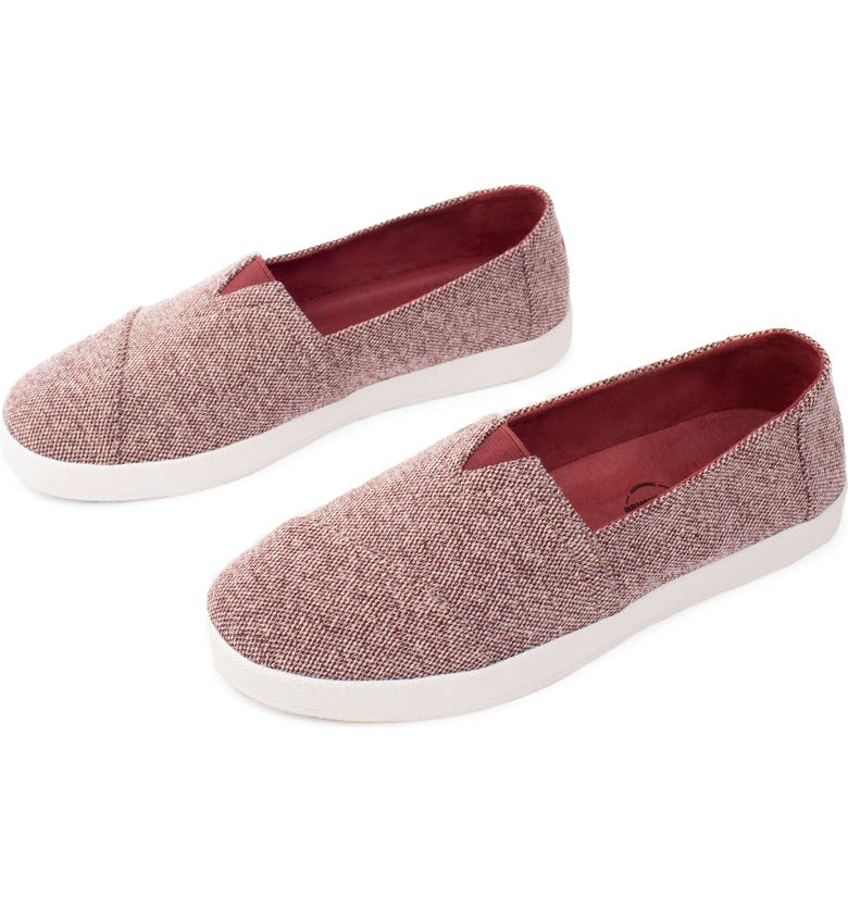 TOMS Avalon Slip-On, Main, color, RED
