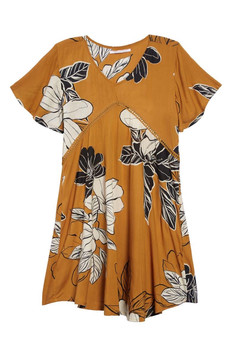 O'NEILL Torrance Print Dress, Main, color, AMBER