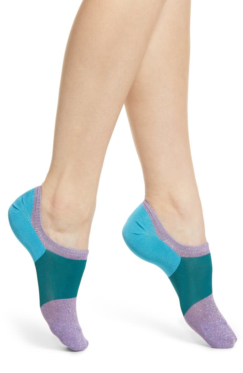 HYSTERIA BY HAPPY SOCKS Isa Invisible Sneaker Socks, Main, color, 451