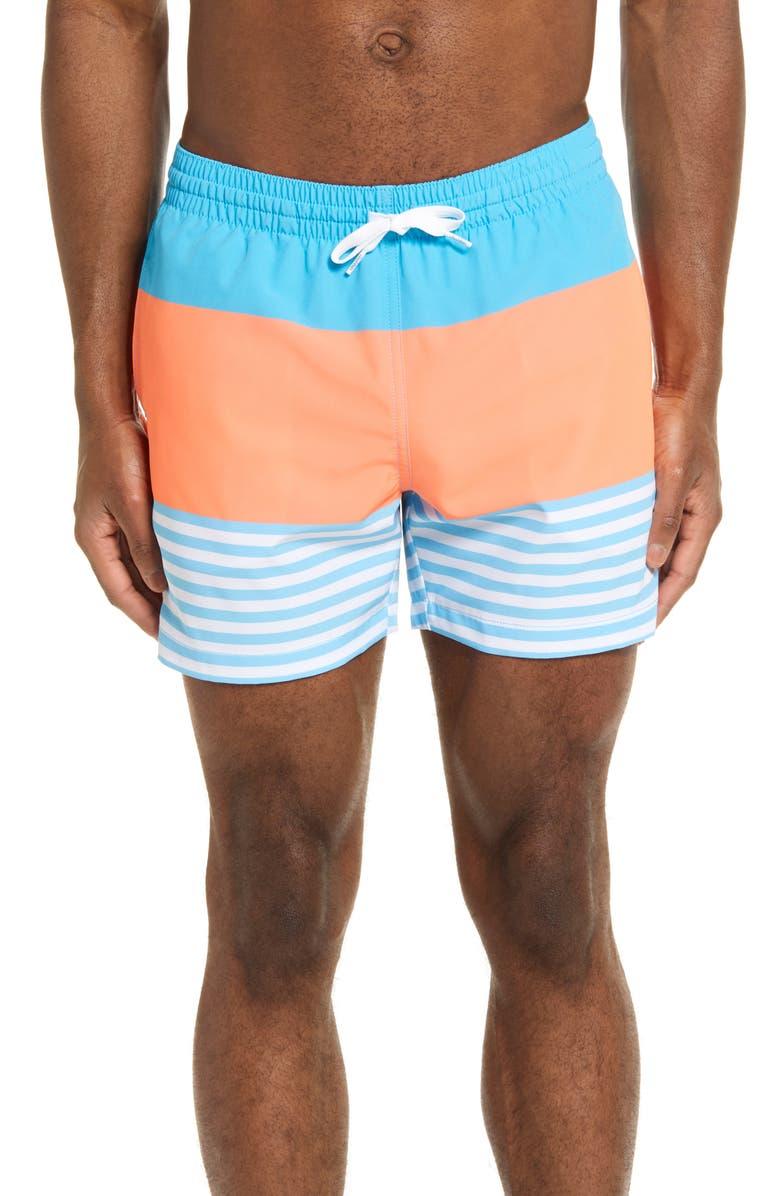 CHUBBIES The Deckhands 5.5-Inch Swim Trunks, Main, color, LIGHT/PASTEL BLUE
