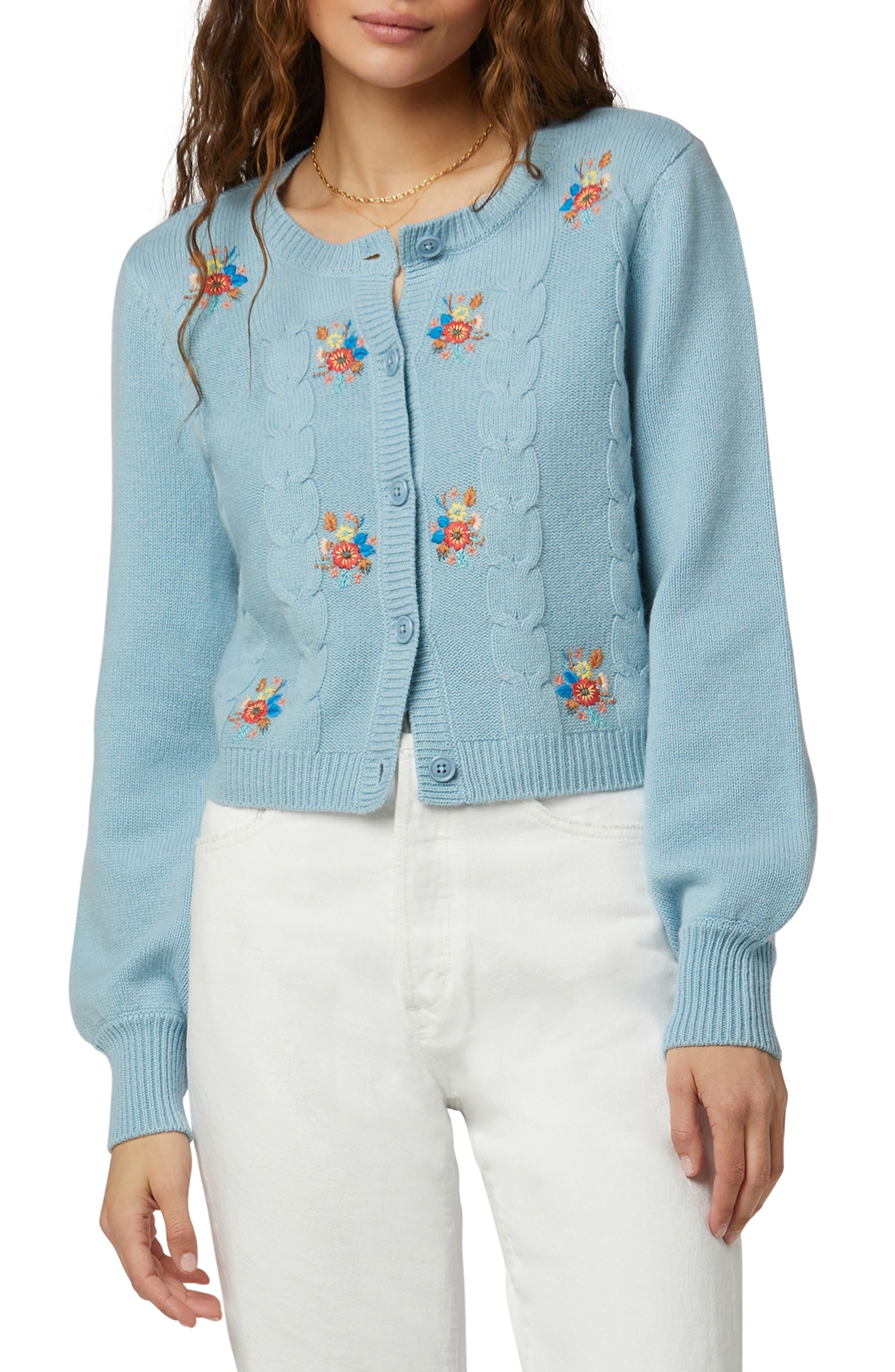 Mimi Nana Embroidered Wool & Cashmere Cardigan