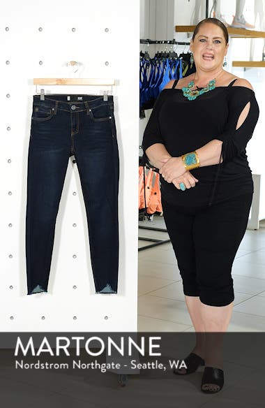 Connie Frayed Ankle Skinny Jeans, sales video thumbnail