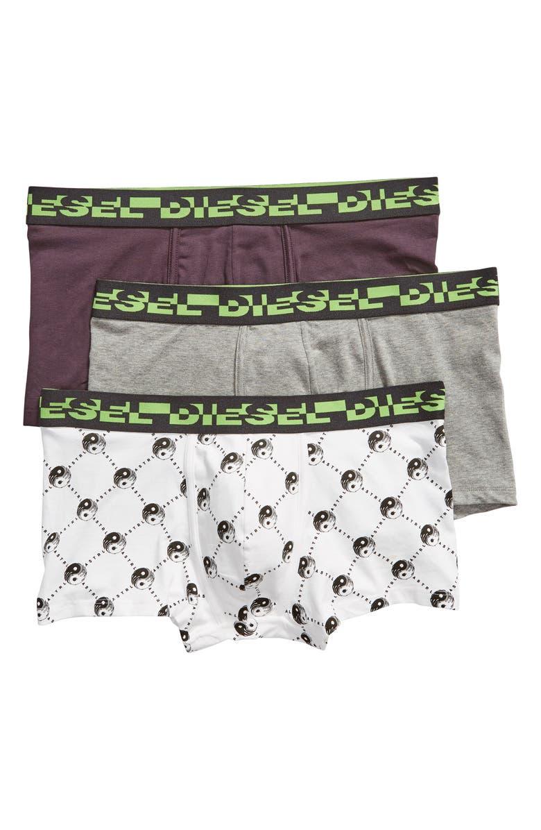 DIESEL<SUP>®</SUP> Damien 3-Pack Trunks, Main, color, 004
