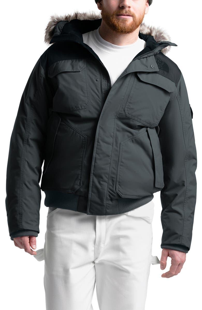 THE NORTH FACE Gotham III Waterproof Down Jacket, Main, color, ASPHALT GREY/ BLACK