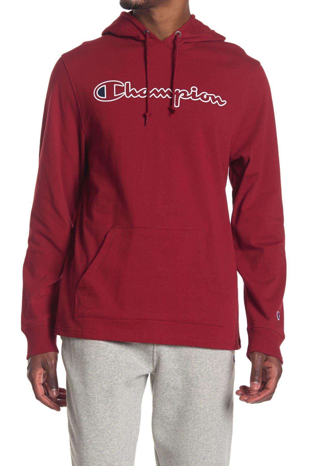 Image of Champion Logo Drawstring Knit Hoodie