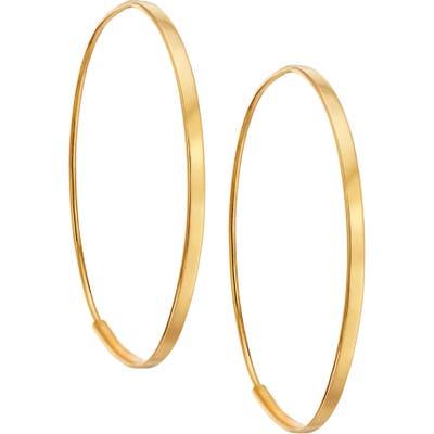 Lana Jewelry Small Flat Oval Hoop Earrings