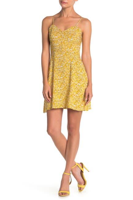 Image of MELLODAY Floral Sleeveless Mini Dress