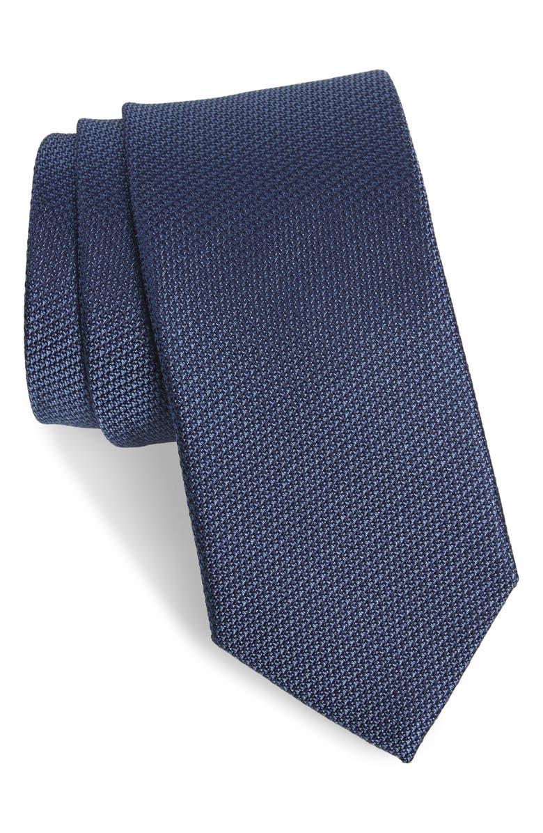 NORDSTROM MEN'S SHOP Gamble Silk Tie, Main, color, DENIM