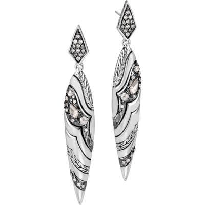 John Hardy Lahar Diamond Drop Earrings