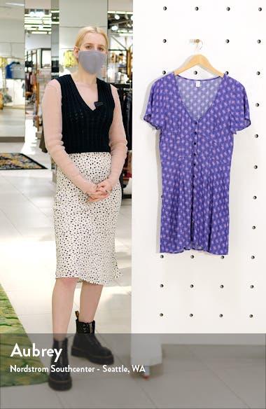 Print Flutter Sleeve Skater Dress, sales video thumbnail