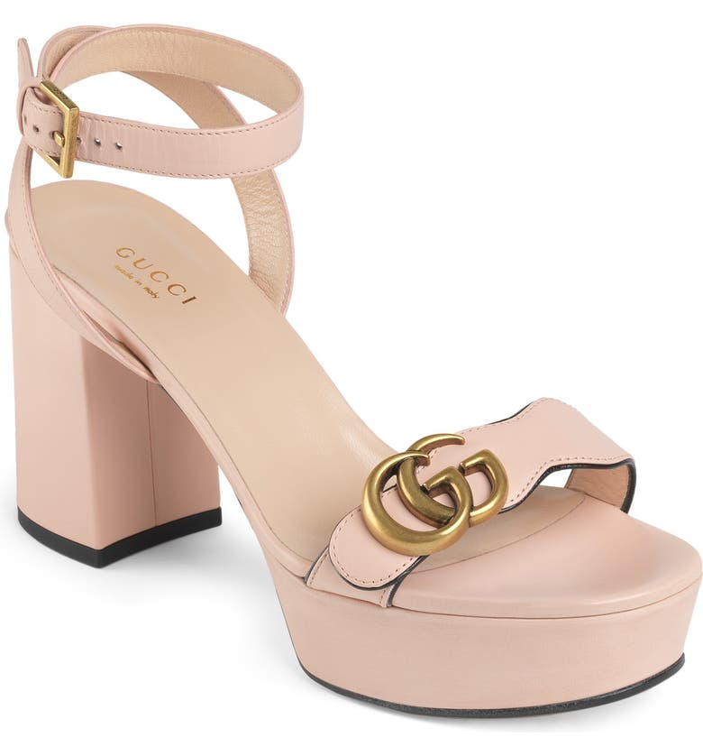 GUCCI GG Platform Sandal, Main, color, PERFECT PINK