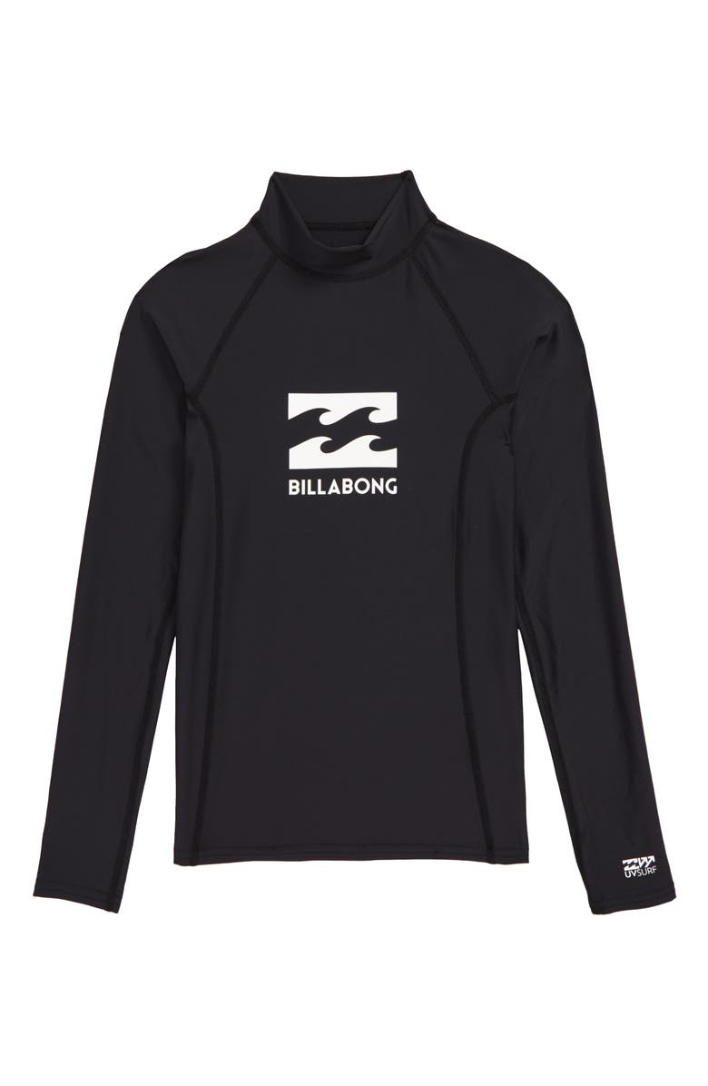 BILLABONG All Day Wave Performance Fit Long Sleeve Rashguard, Main, color, BLACK