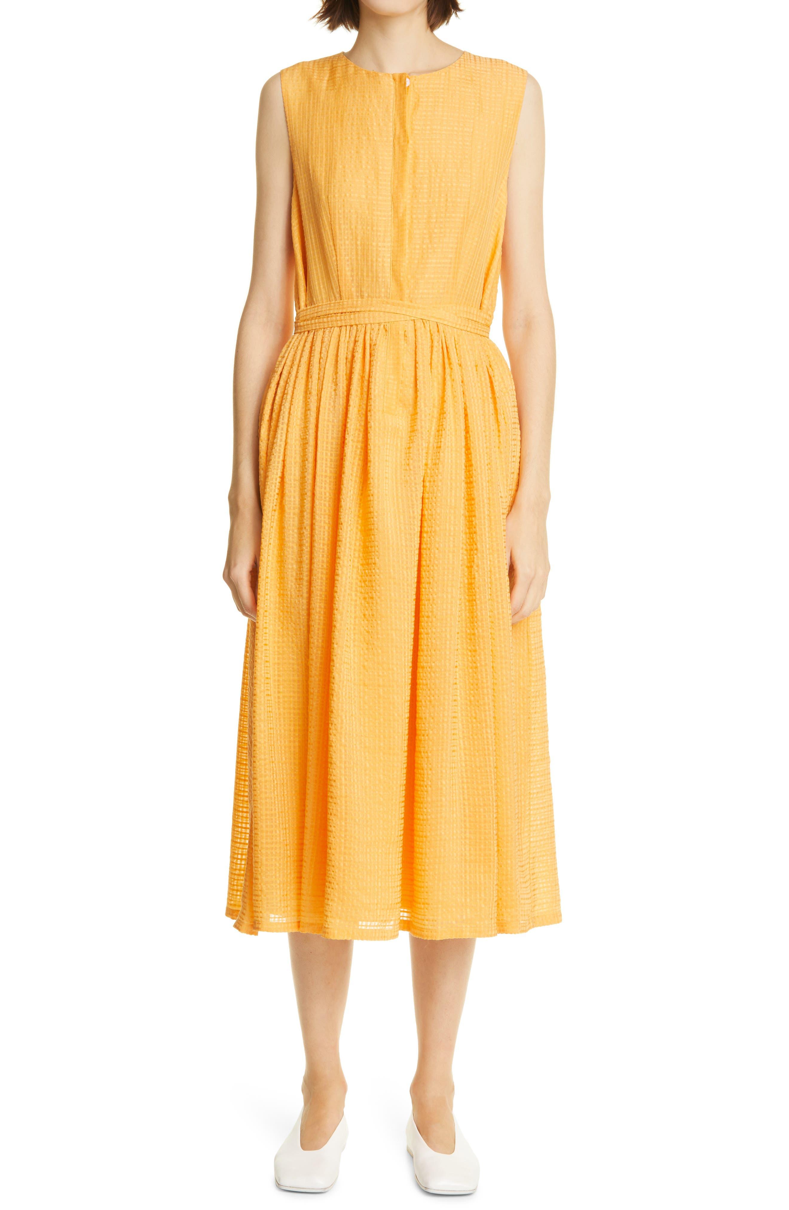 Maya Button Front Linen & Silk Blend Midi Dress