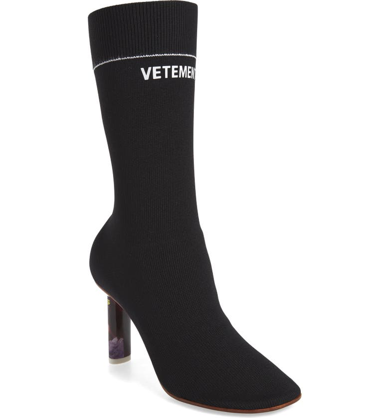 VETEMENTS Lighter Sock Boot, Main, color, 002