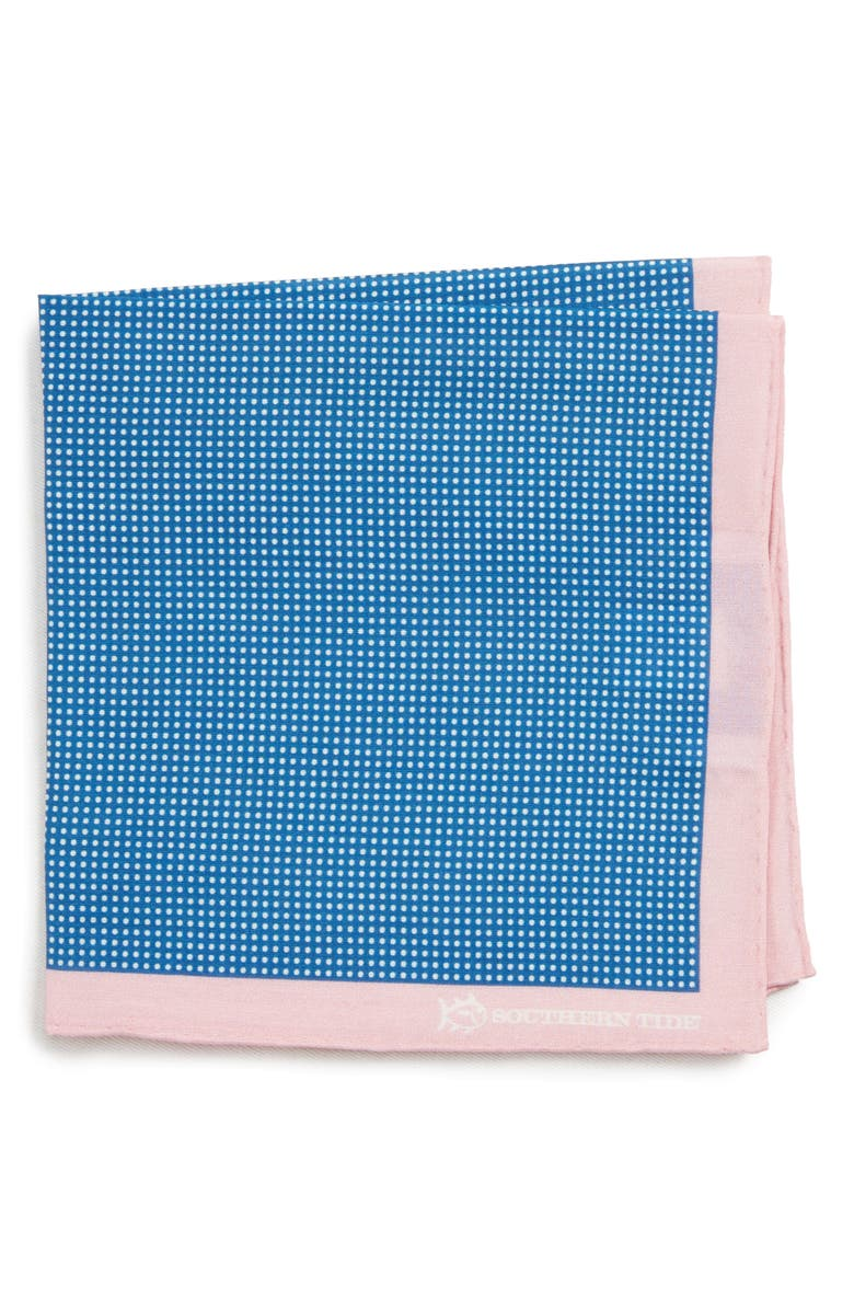 SOUTHERN TIDE Jamestown Dot Cotton & Silk Pocket Square, Main, color, 410