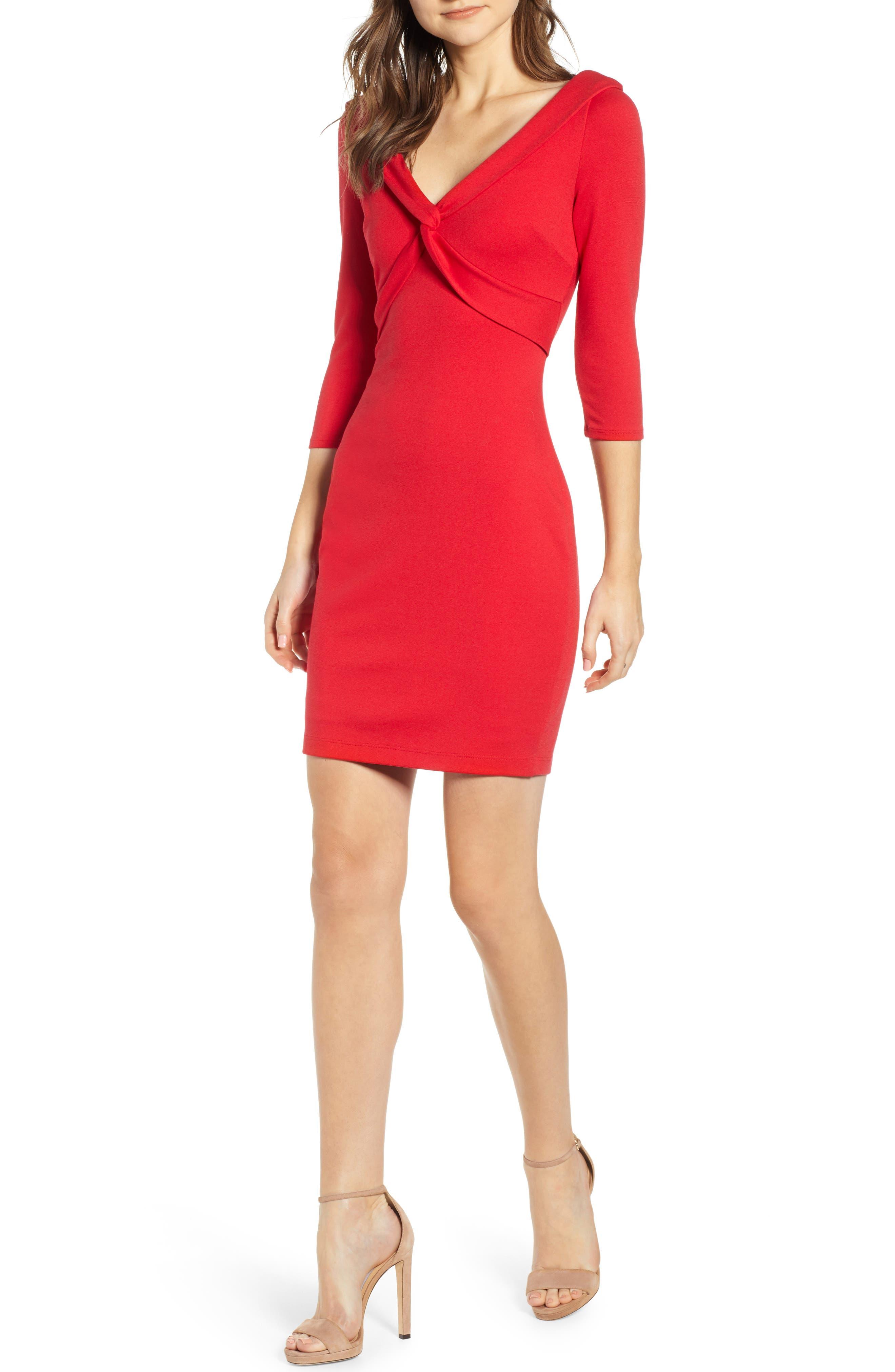 Bailey 44 Ponte Sheath Dress, Red