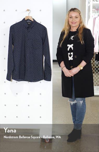 Nordstrom Mens Shop Trim Fit Non-Iron Button-Down Shirt, sales video thumbnail