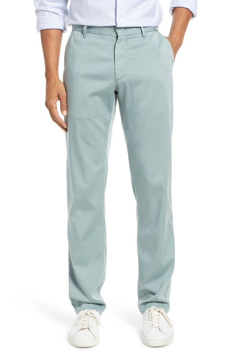 ZACHARY PRELL Aster Straight Leg Pants, Main, color, LT GREEN