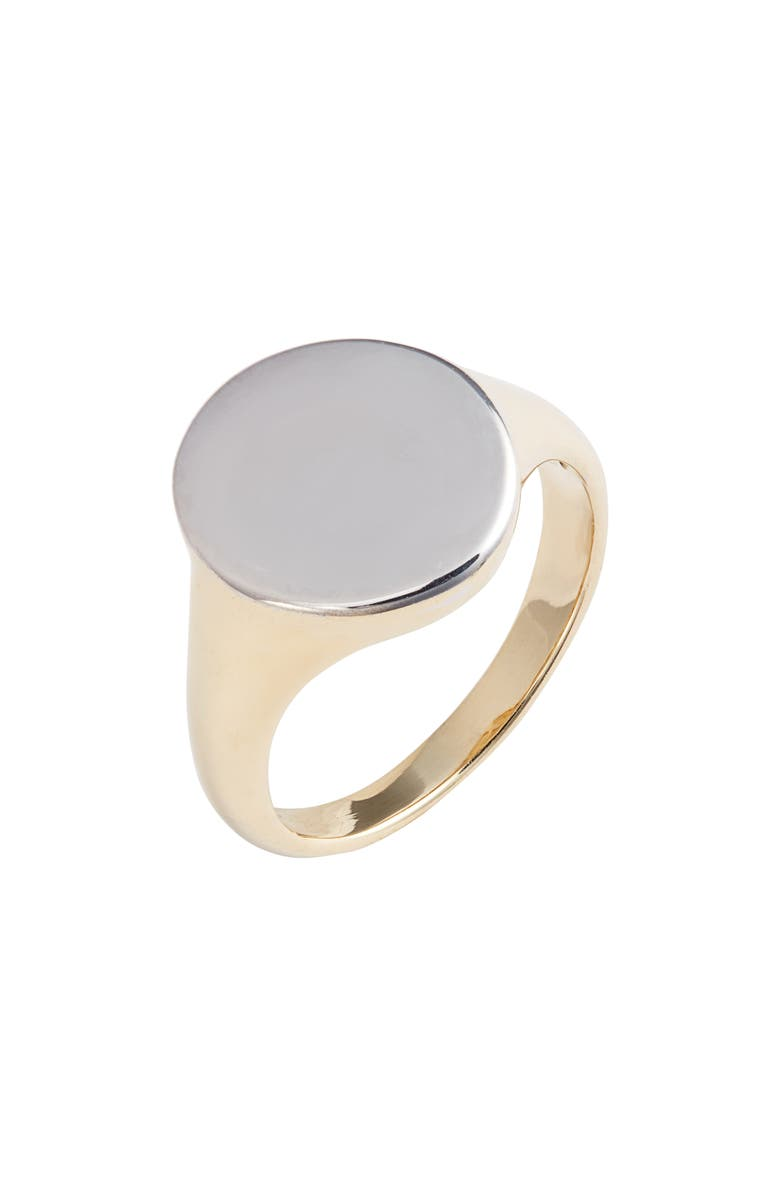 BONY LEVY 14K Gold Signet Ring, Main, color, YELLOW/ WHITE GOLD