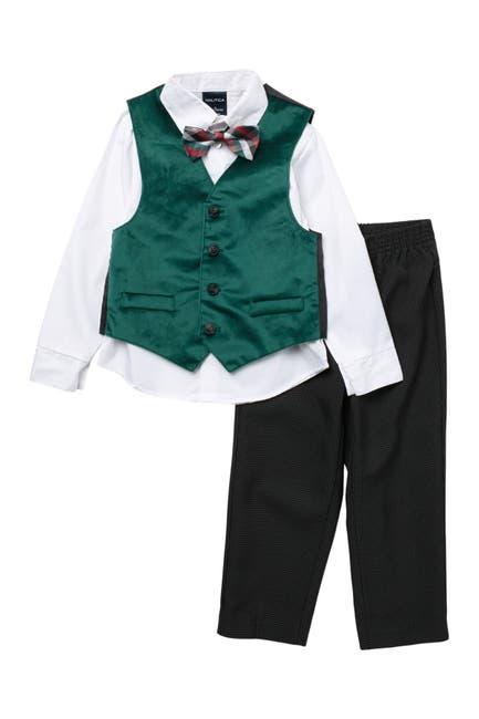 Image of Nautica Holiday Velvet Vest Set