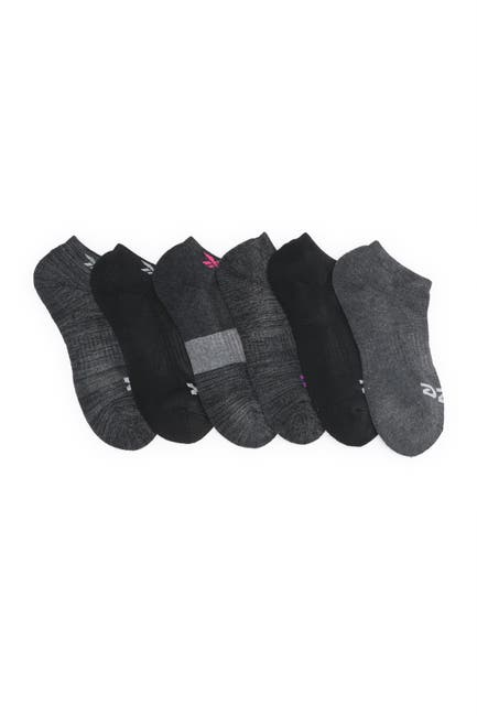 Image of Reebok Low Cut Logo Socks - Pack of 6