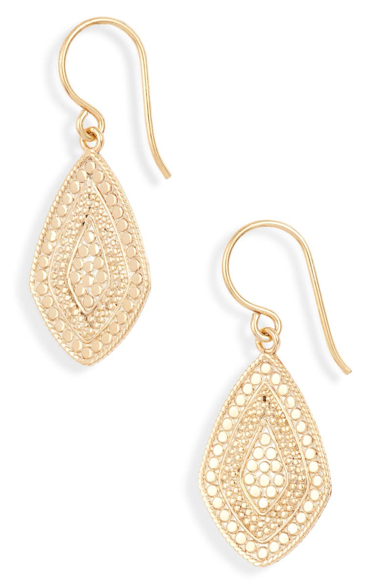 ANNA BECK Beaded Kite Drop Earrings, Main, color, GOLD