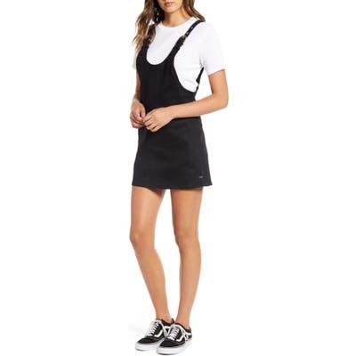 Lira Clothing Denim Jumper Dress, Black