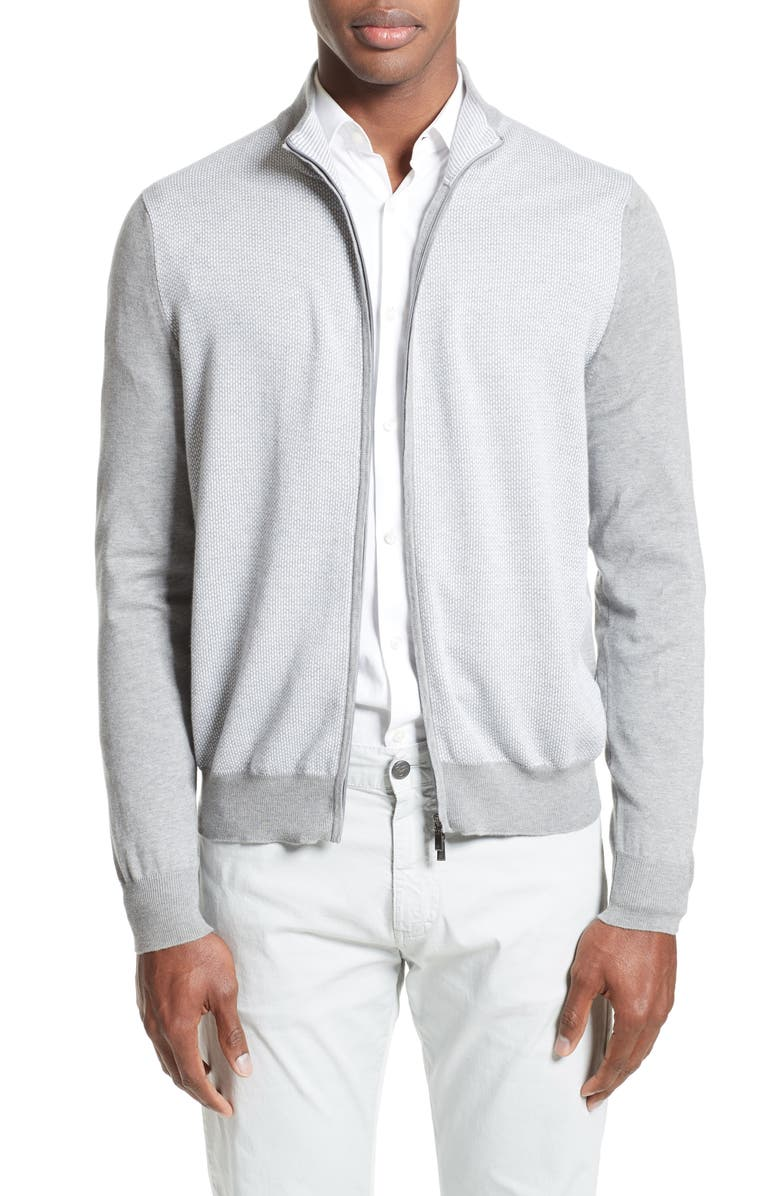 CANALI Zip Sweater, Main, color, 020