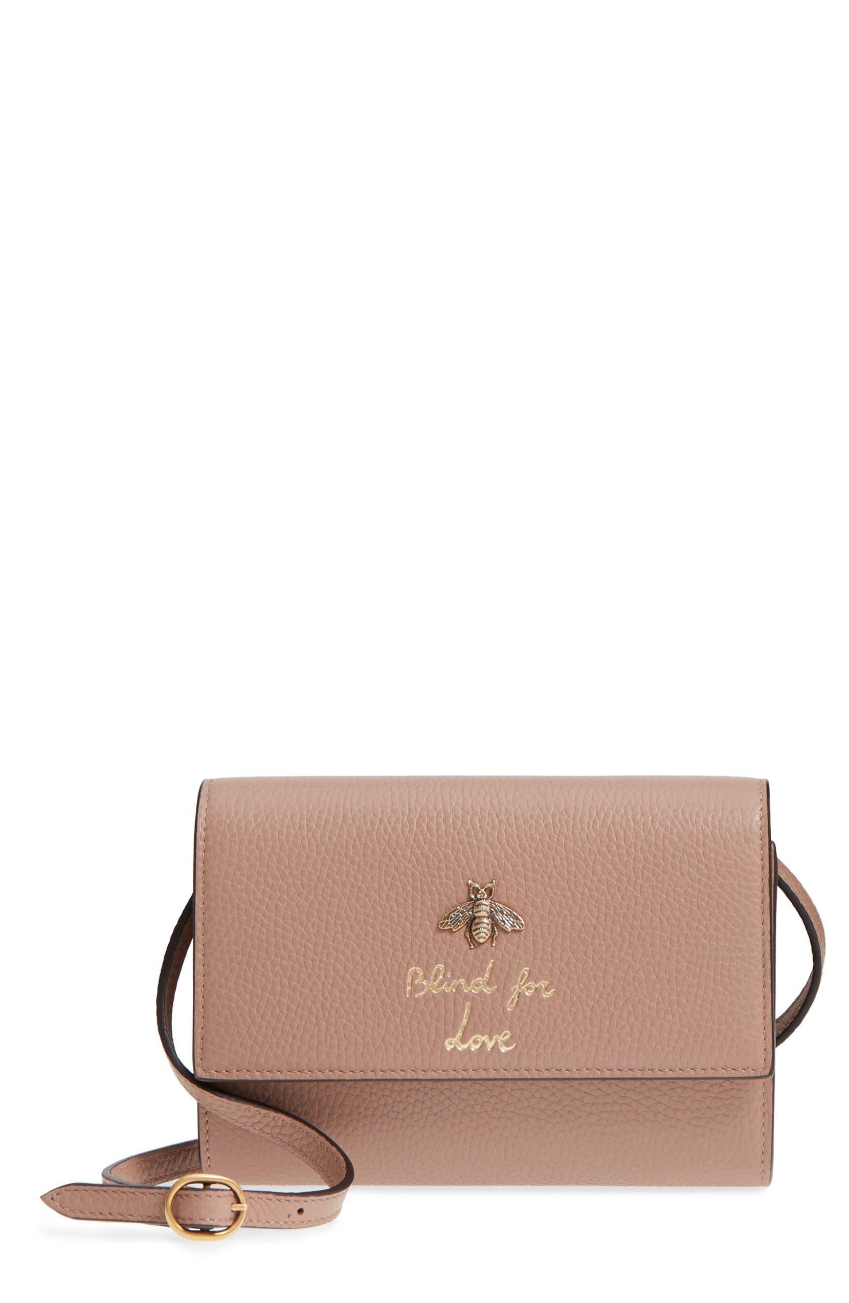 de4c64c183a9 Gucci Animalier Bee Leather Wallet | Nordstrom