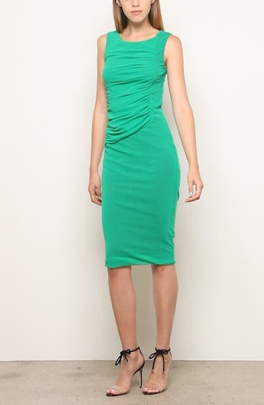 Ruched Mesh Sheath Dress, video thumbnail