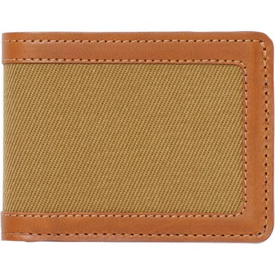 Filsone Outfitter Leather & Canvas Bifold Wallet - Brown