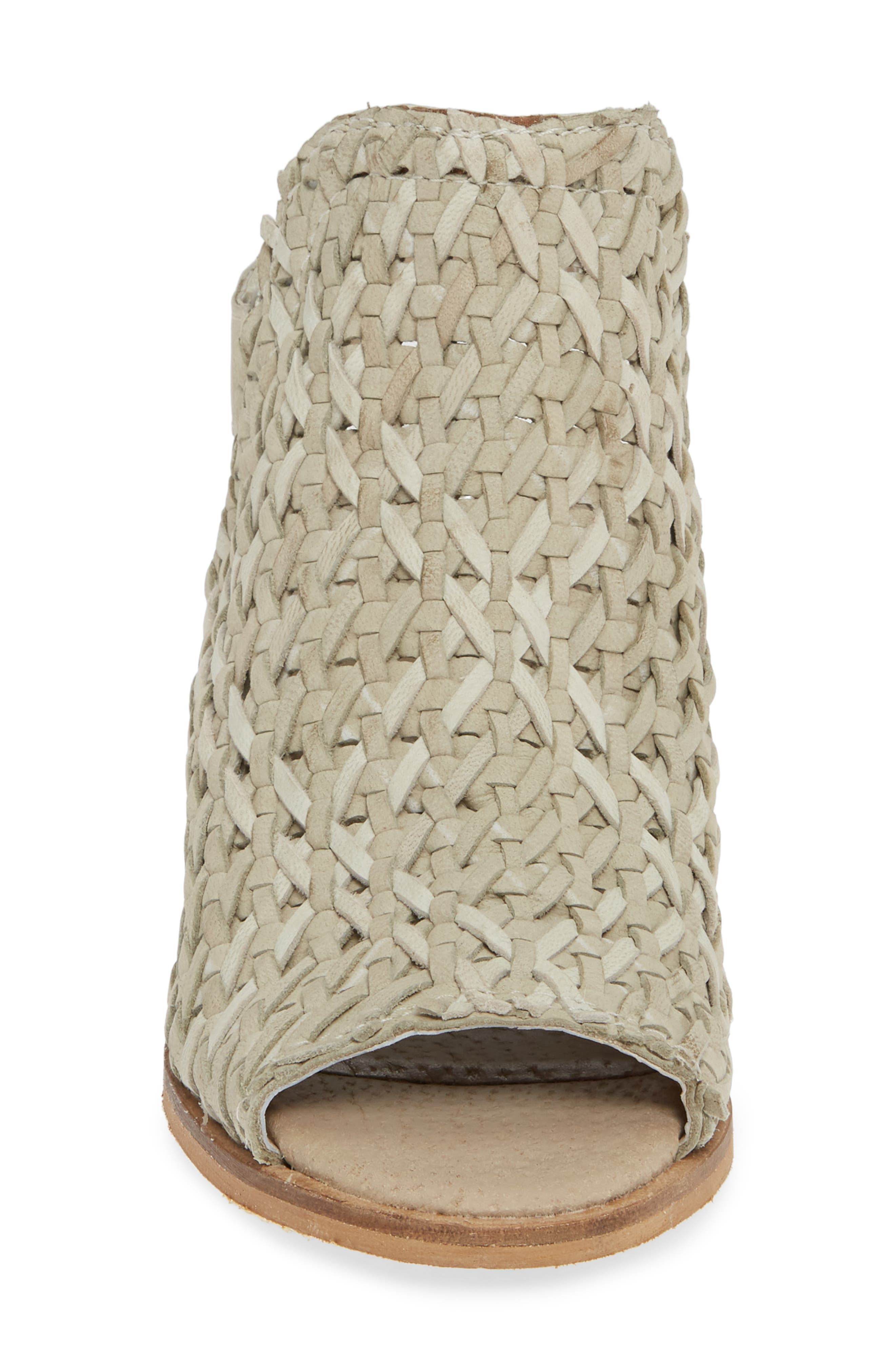 ,                             Veronique Woven Slingback Sandal,                             Alternate thumbnail 4, color,                             STONE LEATHER