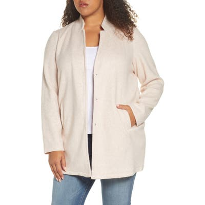 Plus Size Vero Moda Curve Katrine Brushed Fleece Jacket
