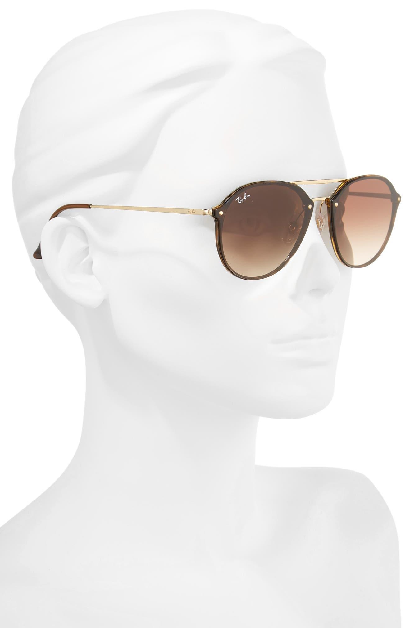 ,                             62mm Gradient Lens Aviator Sunglasses,                             Alternate thumbnail 2, color,                             HAVANA