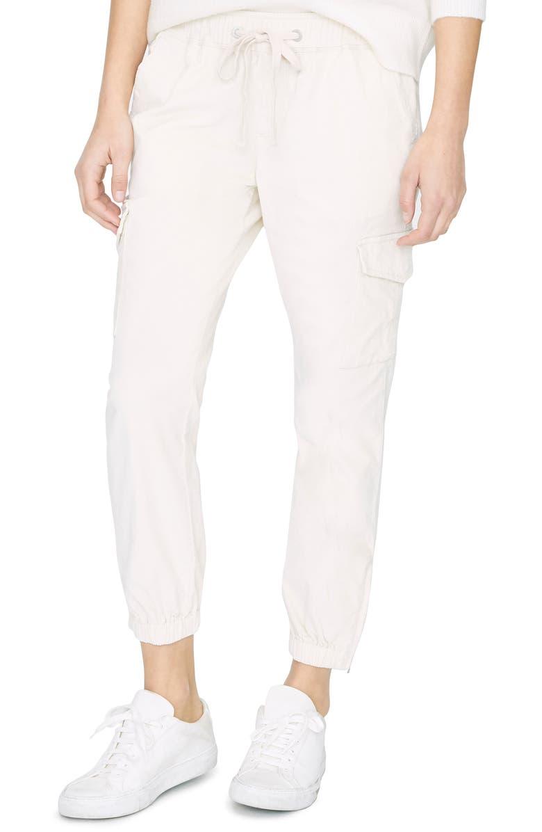 SANCTUARY Mia Stretch Cotton Cargo Jogger Pants, Main, color, MOONSTONE