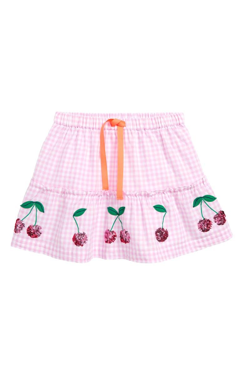 MINI BODEN Sequin Appliqué Skirt, Main, color, 684