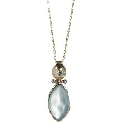 Alexis Bittar Future Antiquity Octagon Hinged Pendant Necklace