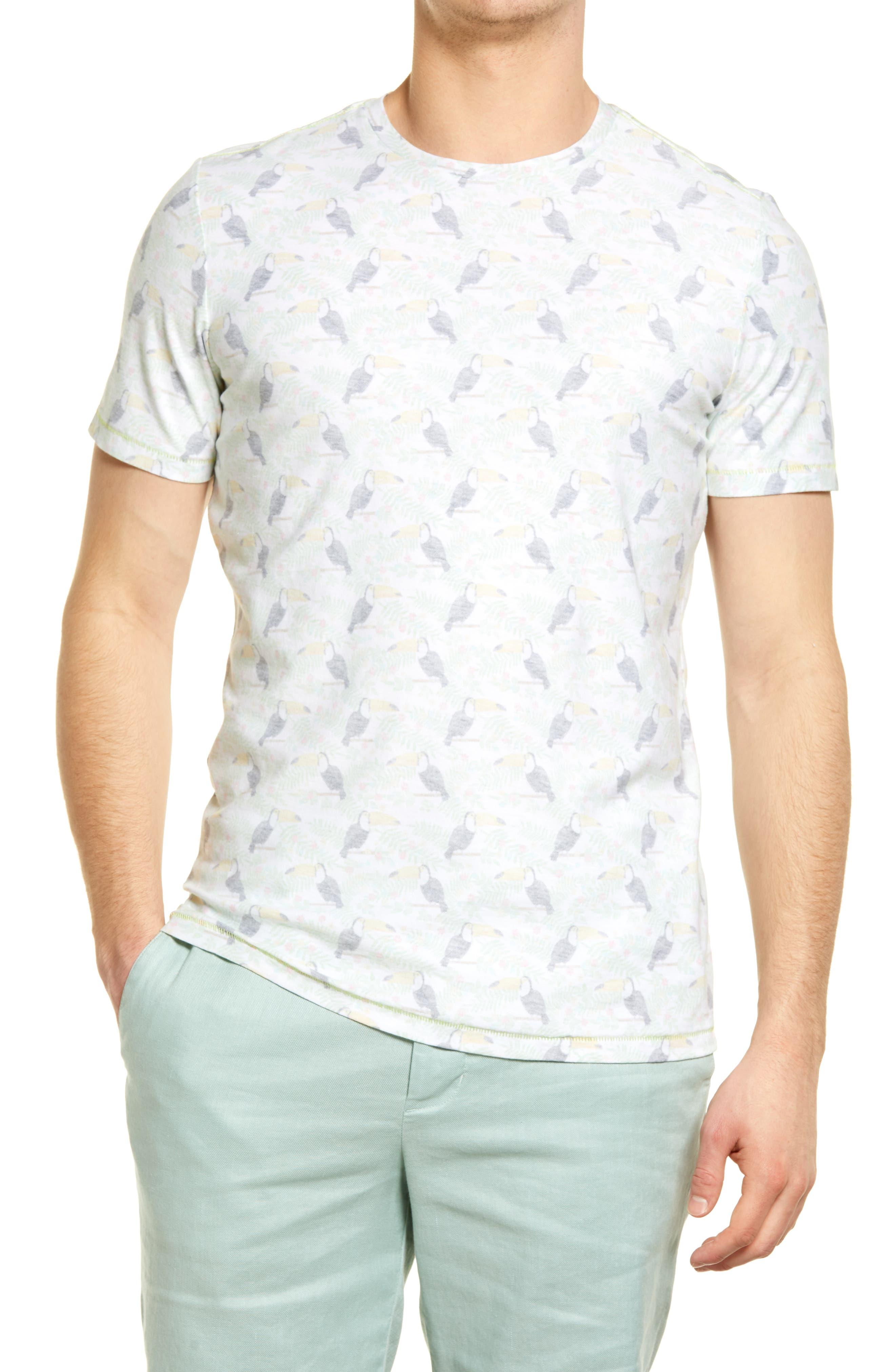 Reverse Print Slub T-Shirt
