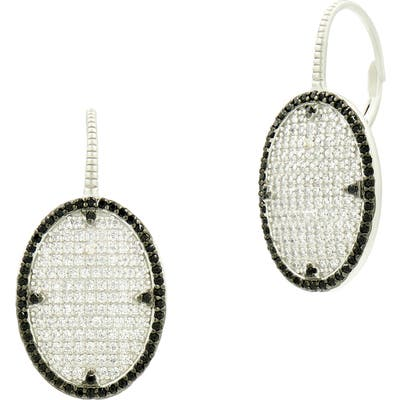 Freida Rothman Industrial Finish Pave Drop Earrings