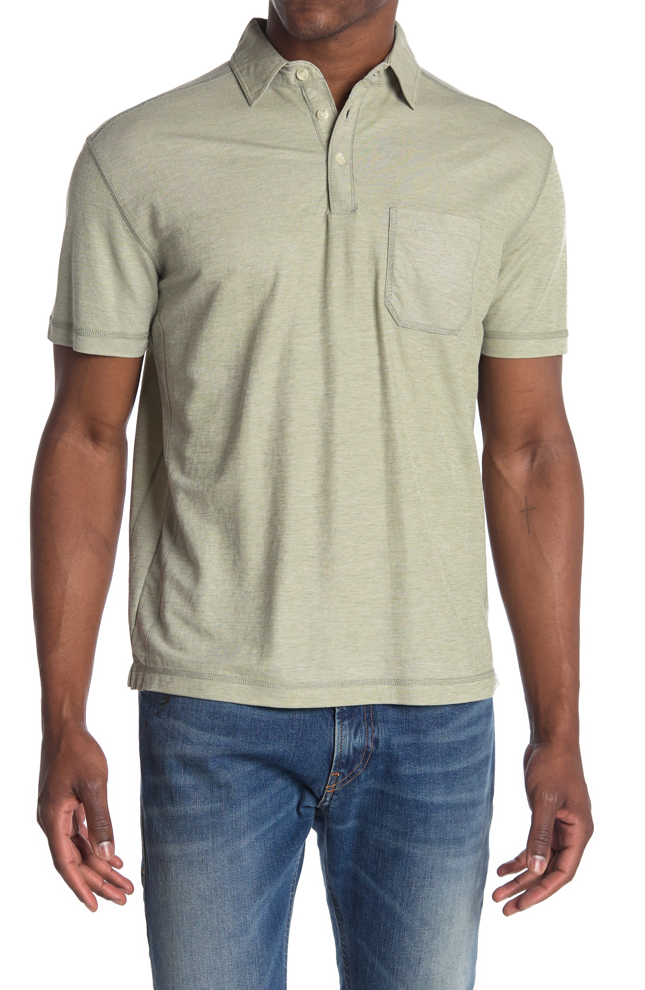 Image of Vintage 1946 Heathered Micro Pique Polo