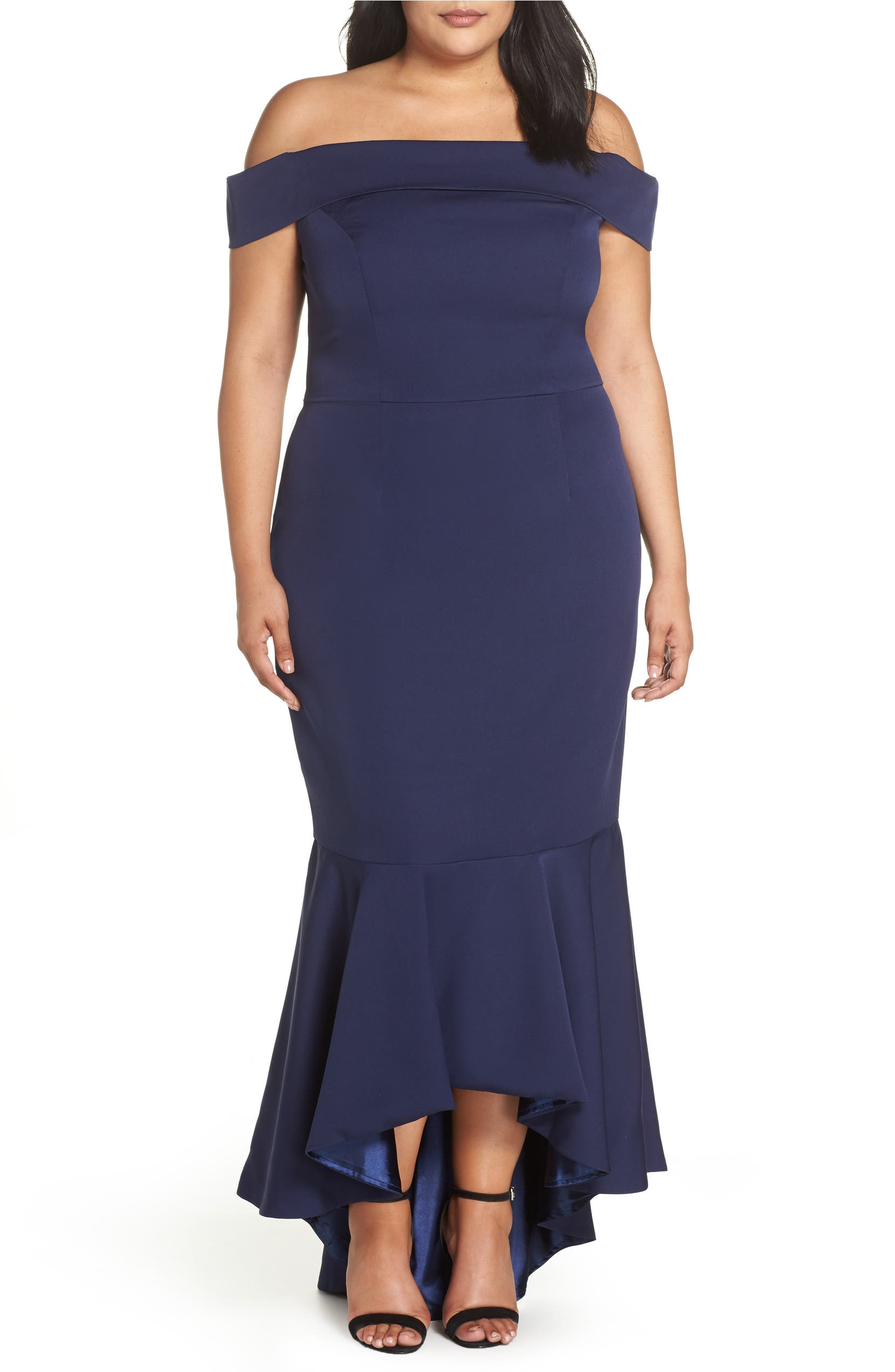 fa0be75368 Chi Chi London Off the Shoulder Dress (Plus Size) | Nordstrom